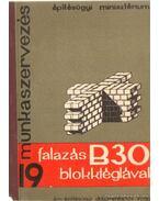 Falazás B30 blokktéglával