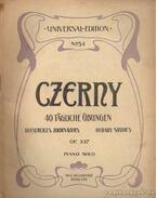 Czerny 40 tagliche Übungen op. 337 piano solo
