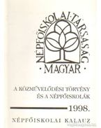 A közművelődési törvény és a népfőiskolák 1998.