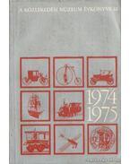 Közlekedési Múzeum évkönyve III 1974-1975.