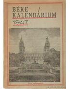 Béke Kalendárium 1947.