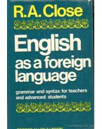 English as a foreign language grammar and syntax for teachers and advanced students