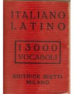 Dizionario italiano-latino (minikönyv)