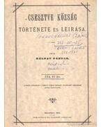 Csesztve község története és leirása