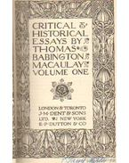 Critical and historical essays by Thomas Babington Macaulay volume one