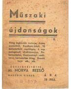 Műszaki újdonságok II.