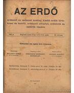 Az erdő 1909. évfolyam (teljes)