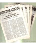 Gyorsírók és gépírók lapja 1994. XLIV. évfolyam 1-6. szám
