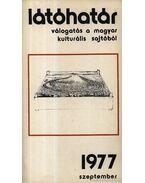 Látóhatár 1977 Szeptember