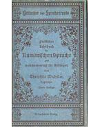 Praktisches Lehrbuch der Rumanischen Sprache