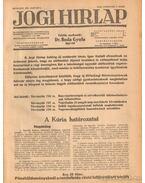 Jogi hirlap 1943. XVII. évfolyam 1-52. szám (teljes)