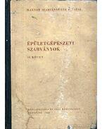 Épületgépészeti szabványok II. kötet