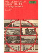 First certificate in English course for foreign students