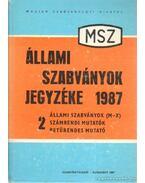 Állami Szabványok Jegyzéke 1987 2. állami szabványok (M-X)