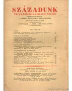 Századunk 1929. Május-junius 5. szám