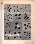 Bobwhite Quail Food Habits (A Virginiai fogasfürj étkezési szokásai)