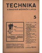 Technika 1944 25. évfolyam 5. szám