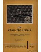Die Vögel der Heimat 25. II. 1955 (Hazám madarai 25 évf. II. szám 1955)