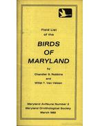 Field list of the Birds of Maryland (Maryland madarainak listája)