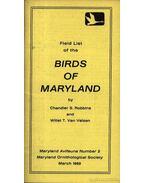 Field list of the Birds of Maryland (Maryland madarainak listája)