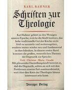 Schriften zur Theologie I-VIII. kötet (A szentírás teológiája)