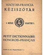 Magyar-francia kéziszótár - Hegedüs Izodor