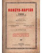 Hangya-naptár az 1931-ik közönséges évre III. évfolyam