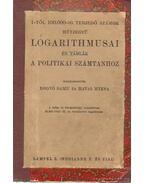 1-től 100000-ig terjedő számok hétjegyű logarithmusai és táblák a politikai számtanhoz