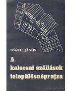 A kalocsai szállások településnéprajza - Bárth János