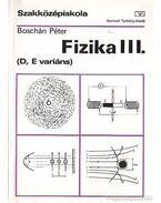 Fizika III. (D, E variáns)