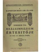 A kaposvári Magy. Kir. állami reálgimnázium értesítője az 1926-1927. iskolai évről