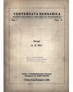 Vertebrata Hungarica I. 2. 1959 (Magyarországi gerincesek I. 2. 1959)