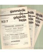 Gyorsírók és gépírók 1992. XLII. évfolyam (töredék)