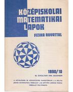 Középiskolai matematikai lapok 1990/10. december