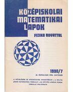 Középiskolai matematikai lapok 1990/7. október