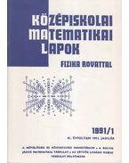 Középiskolai matematikai lapok 1991/1. január