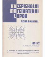 Középiskolai matematikai lapok 1991/2. február