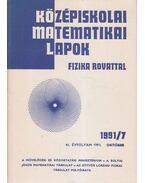 Középiskolai matematikai lapok 1991/7. október
