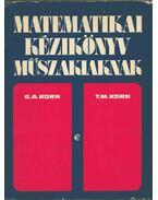 Matematikai kézikönyv műszakiaknak - Korn, Granino A., Korn, Theresa M.