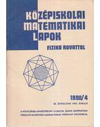 Középiskolai matematikai lapok 1990/4. április
