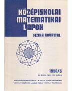Középiskolai matematikai lapok 1990/5. május