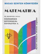 Matematika - Közönséges differenciálegyenletek II.