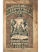 A Magyar Nemzeti Szövetség Pécs-baranyai Körének békerevíziós évkönyve 1929 - Krisztics Sándor dr.