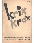 Krix-krax első évfolyam első szám