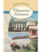 Thesaurus Salemnis - Kujbosné Mecsei Éva (szerk.)