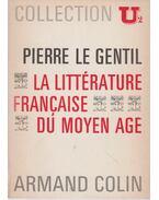 La littérature francais du moyen age