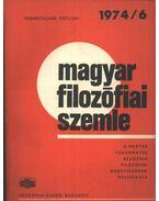 Magyar filozófiai szemle 1974/6.