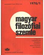 Magyar filozófiai szemle 1978/1.