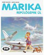 Marika repülőgépre ül
