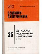 Általános villamossági szabványok II. - Markert Károly